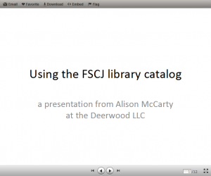 Library catalog PowerPoint