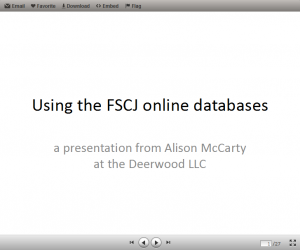 Online databases PowerPoint