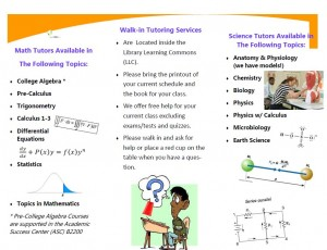Stop by the Math lab and Science Lab